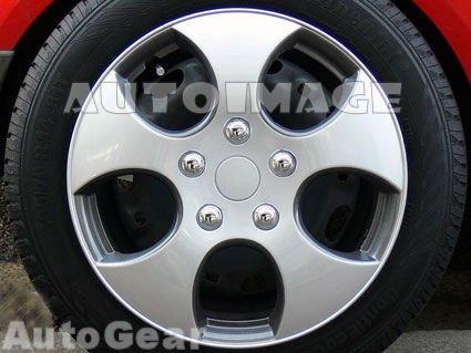 """15 """"pulgadas como VW Golf GTI deportes diseño de imitación plateado gris coche llantas"""
