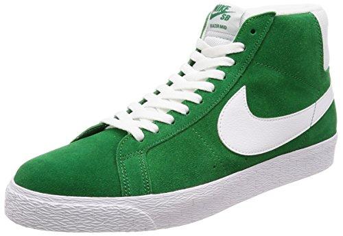 Price comparison product image Nike Men's SB Zoom Blazer Mid Pine/Green/White Skate Shoe 10.5 Men US