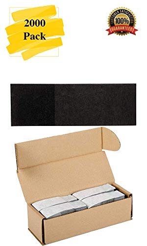 MM Foodservice Self Sealing Napkin Band, Pack of 2000 Self-Adhering Paper Napkin Band (Black) ()