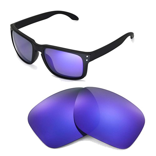 1246b257d4 Walleva Replacement Lenses For Oakley Holbrook Sunglasse-Multiple Options  (Titanium Mirror Coated - Polarized) - Buy Online in UAE.
