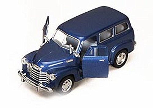 1950 Chevy Suburban, Blue - Kinsmart 5006D - 1/36 scale Diecast Model Toy Car (Brand New, but NO BOX) (Chevy Suburban Model compare prices)