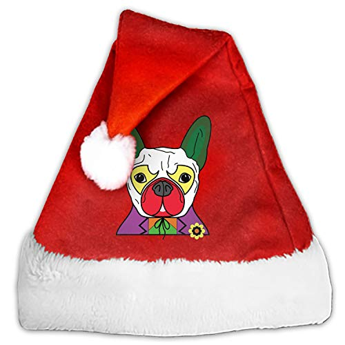 Colorful Joker Pug Christmas Santa Hat Party Caps for Childrens and Adults Family Party -