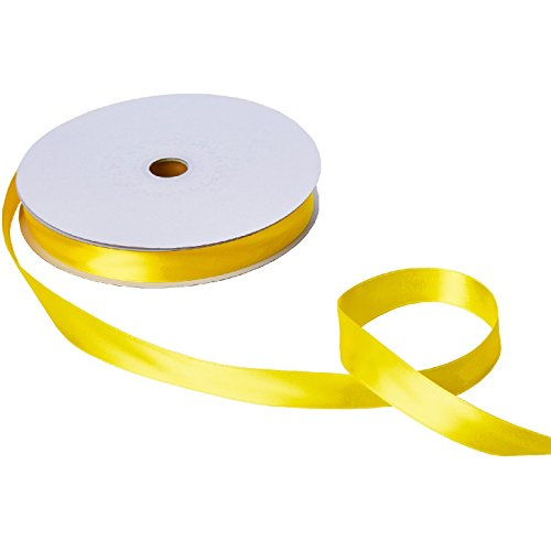 Jillson & Roberts Double-Faced Satin Ribbon, 1'' Wide x 100 Yards, Yellow by Jillson Roberts