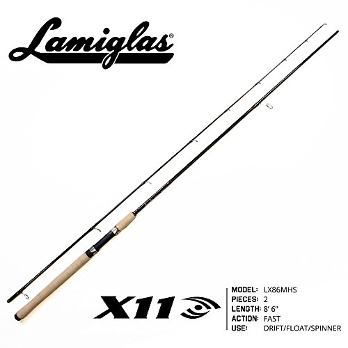 1x8' Bass - Lamiglas LX 86MHS X-11 Series Fishing Rod