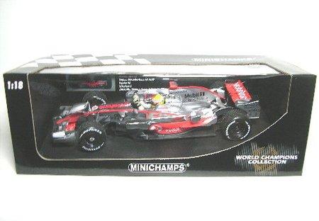 1/18 ボーダフォン マクラーレン メルセデス MP4/23 ワールドチャンピオン ブラジルGP 2008 Mobil1 #22(シルバー×レッド) 530081832