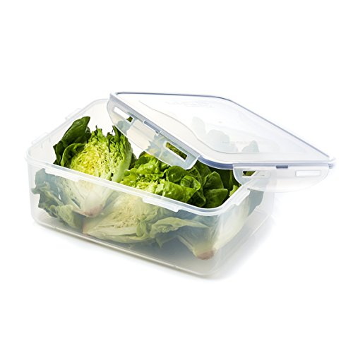 LOCK & LOCK Airtight Rectangular Food Storage Container with Drain tray 185.98-oz / 23.25-cup