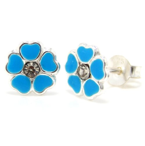 Studs Crystal Centers - Pro Jewelry .925 Sterling Silver