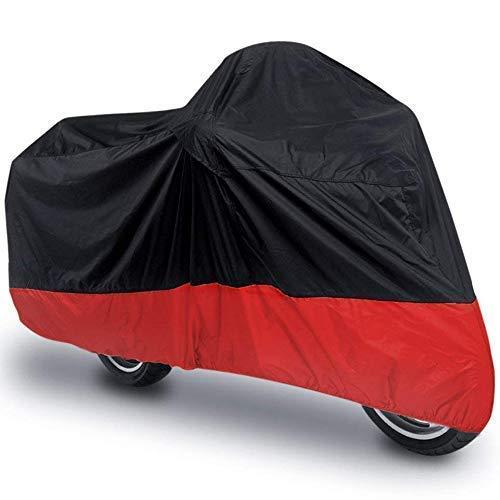 - Motorcycle Cover Waterproof Sunblock Dustproof Outdoor Garage Motor Cover with 3 Adjustable Buckles XXXL Fit up to 108