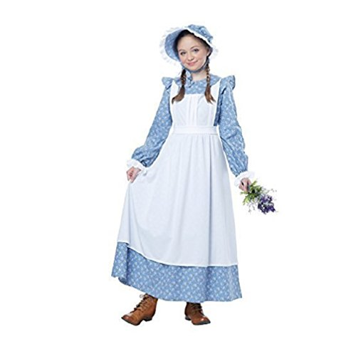 Child Pioneer Girl Costume Medium Size: Medium (Little Colonial Boy Child Costumes)