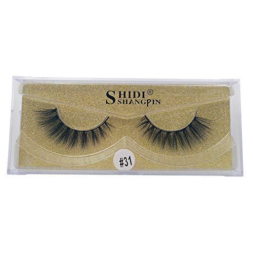 UNEEDIT 3D Mink Hair Soft Long Natural Look Handmade False Eyelashes Fake Lashes for Makeup 1 Pair Pack