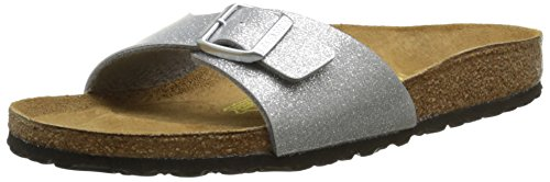 Birkenstock - Madrid, Mules Mujer, Plateado (Magic Galaxy Silver), 42