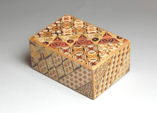 Japanese Yosegi Puzzle Box 4-Sun 14 Moves by Uncommon Treasures by Uncommon Treasures