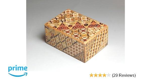 12 Step Japanese Puzzle Box Secret Yosegi Hakone 4 Sun Trick Opening Crafted M