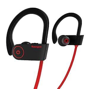 Auriculares Bluetooth HolyHigh Yuanguo2 Auriculares inalámbricos Deportivos Casco Mini Inalámbrico Estéreo con Micrófono Incorporado para Samsung y Andriod