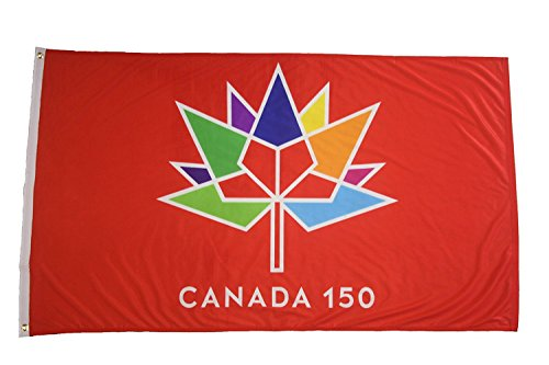 Canada 150 Flag Celebrate Canada's 150th Birthday with This Premium Smooth Flying Quality Flag