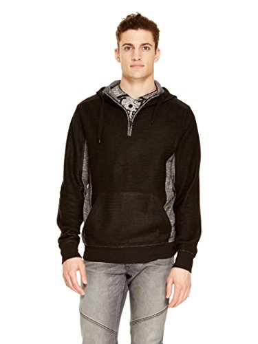 Jeans Men Dkny Sweaters - DKNY Jeans Men's Herringbone Terry Sweater (Small, Black)