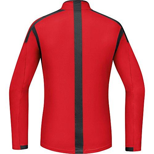 Gore Running Wear Air Zip - Camiseta de manga larga para hombre Rojo / Negro (Red / Black)