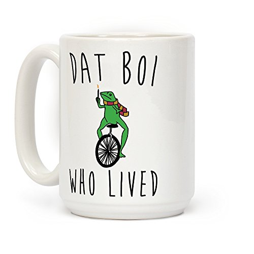 LookHUMAN Dat Boi Who Lived Parody White 15 Ounce Ceramic Coffee Mug -