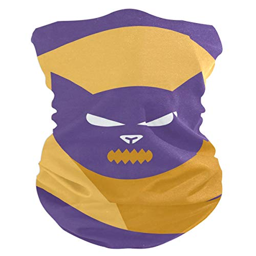 (Halloween Cat Headband Womens Bandana Multifunctional Mens Balaclava, Neck Warmer, Face Mask, Helmet Liner)
