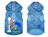 Wagging In The Rain Dog Raincoat Color: Blue, Size: XX-Small