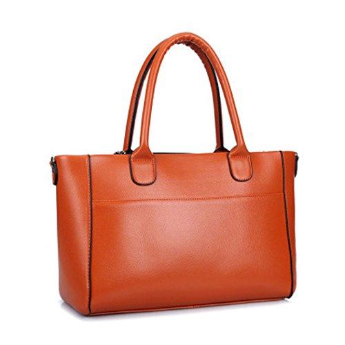 Arancione Le Borse In Shopping Per Di Colore A Borsoni Pelle Tracolla Pu Dello Deerword Donne Amanti E wOOHgIrqx