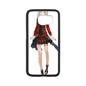 Samsung Galaxy S6 Cell Phone Case Covers White Guilty Crown Characters G7676770