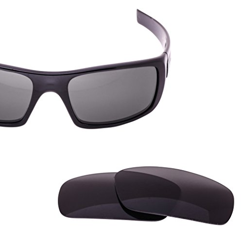 LenzFlip Replacement Lenses for Oakley Crankshaft Sunglass frame - Gray Polarized - Iridium Polarized Are Lenses