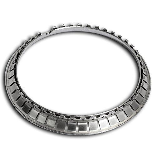 OxGord Trim Rings 16 inch diameter (Pack of 4) Chrome Steel Beauty Rims by OxGord (Image #2)