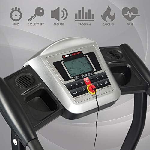 Ultrasport Cinta de correr eléctrica con consola, equipo de ...