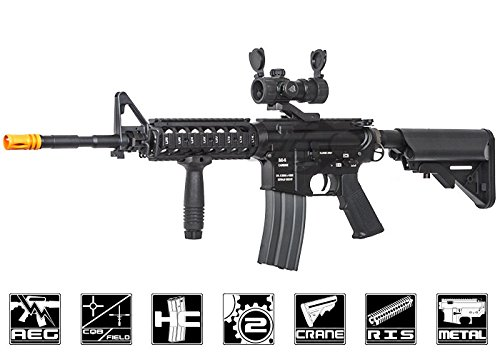 Classic Army Mp5 - Classic Army Full Metal M4A1 RIS Carbine w/ Crane Stock AEG (LiPo Battery & Charger Package)