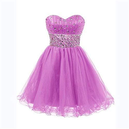 Vestido Tubo Con Colección Pequeña Mujer Us18 Top Abalorios Tamaño color Fengbingl Purple Light De Corto dqxdAH