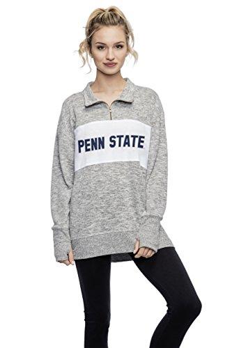 chicka-d Penn State University Ladies Quarter Zip Sweater/Pullover/Sweatshirt - PSU Nittany Lions Women's Apparel