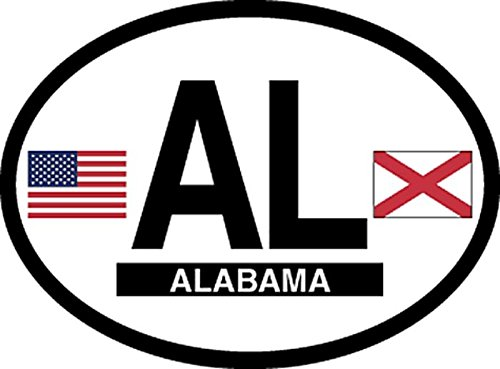 State Flag Oval Decal (Alabama oval flag state vinyl sticker decal)