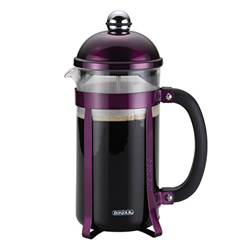 BonJour Coffee 8-Demitasse Cup, 33.8 oz, Maximus French Press, Purple