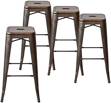 Buschman Set of Four Bronze 30 Inches Counter High Tolix-Style Metal Bar Stools  sc 1 st  Amazon.com & Bar Stools | Amazon.com islam-shia.org