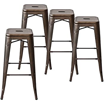 Buschman Set of Four Bronze 30 Inches Counter High Tolix-Style Metal Bar Stools  sc 1 st  Amazon.com & Amazon.com: Buschman Set of Four Bronze 30 Inches Counter High ... islam-shia.org