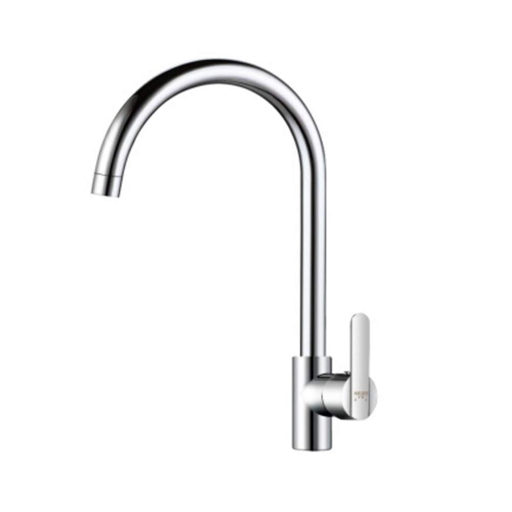 Silver1 MuMa Faucet Silver Stainless Steel Single Hole 360 Degree redate Hot Cold Mixer Kitchen Bathroom Sink (color   Silver2)