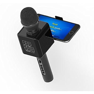 Tzumi Electronics 4955-B PopSolo Bluetooth Karaoke Microphone & Speaker