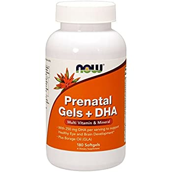 NOW Prenatal Gels + DHA,180 Softgels