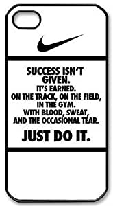 NIKE QUOTE JUST DO IT Hard Plastic Apple iPhone 4 4s Case Cover,Top iPhone 4 4s Case from Good luck to wangjiang maoyi