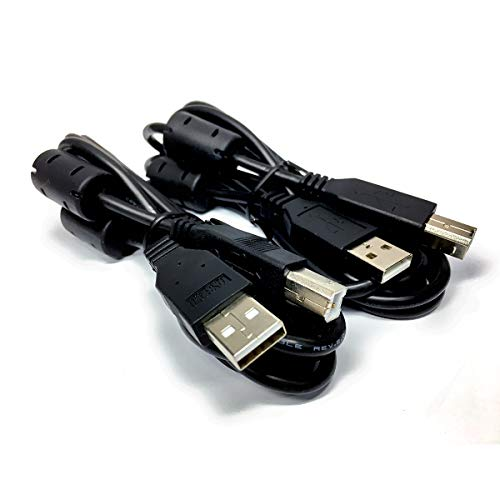 2-Pack RocketBus A to B Device Printer Cable Cord for HP Epson Canon Brother Zebra Eltron Dymo Laser Inkjet Thermal ()