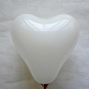 Doitsa 100PCS Ballon D/écoratif Forme de Coeur Mix Blanc et Rouge Ballons en Latex Naturel D/écoration de Mariage//Anniversaire//C/él/ébration 50 Blanc +50 Rouge