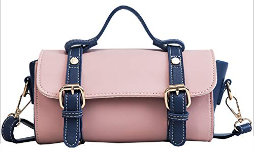 Onfashion Women's Bowler Boston Multipurpose Handbags Crossbody Shoulder Bags Pink