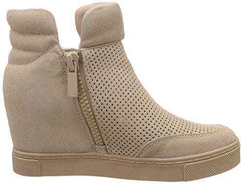 STEVE MADDEN LINQS-P SAND SUEDE Zapatillas deportivas de ante con cuña interior beige