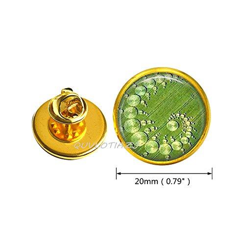 - QUVLOTIAZJ Crop Circle Brooch, Geometric Jewelry, Art Pin,glass dome Pin,photo Pin,glass dome Brooch,ot159 (A2)
