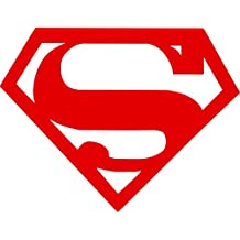 "Superman Symbol Auto Car All Weather 4 Seasons Hood Window Decal Vinyl Bumper Sticker Mural Graphics Red 23""X18"""