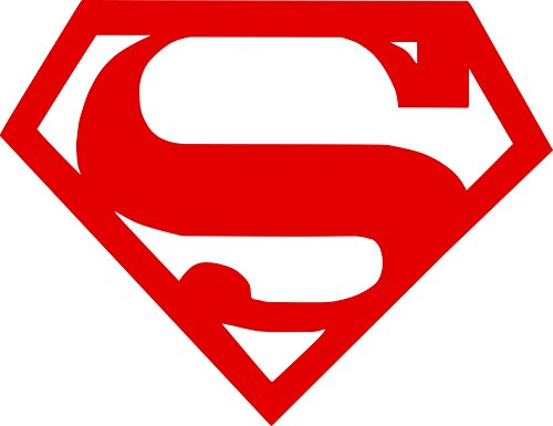 Infant Mural (Superman Symbol Auto Car All Weather 4 Seasons Hood Window Decal Vinyl Bumper Sticker Mural Graphics Red 15