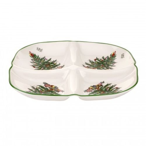 Spode Christmas Tree Sculpted 4 Section Tray 1612358