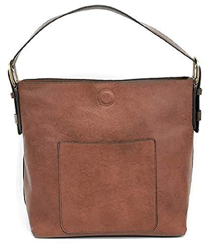 (Joy Susan Classic Hobo Handbag (Cognac Brown Handle))