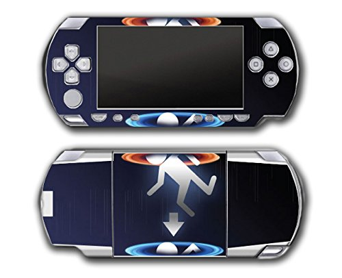 Portal 1 2 Gun Chell Gladdos Wheatley Aperture Science Video Game Vinyl Decal Skin Sticker Cover for Sony PSP Playstation Portable Original Fat 1000 Series System